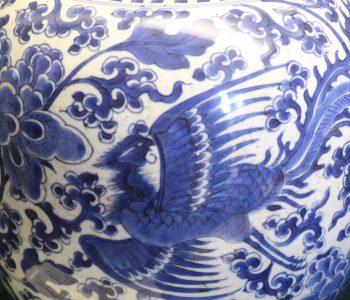 chinese porcelain-ginger jar-phoenix